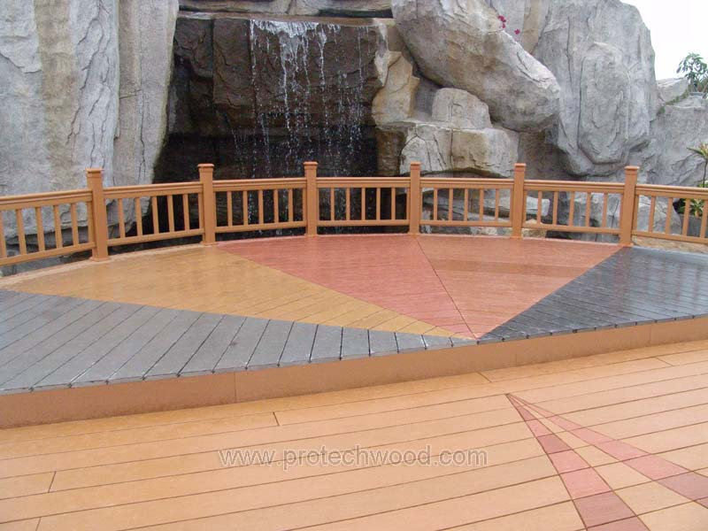 Decking with railing - protechwood
