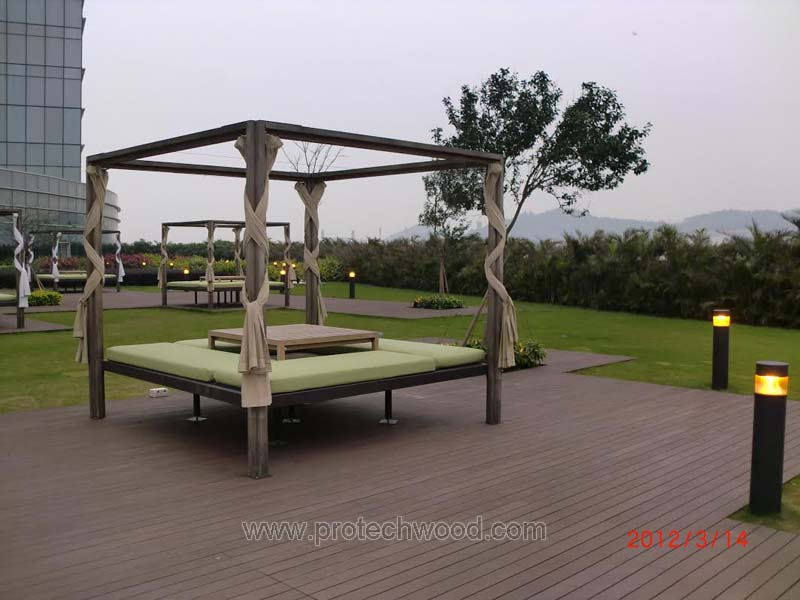 Protechwood wpc decking project in Macau